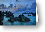 Dj Florek Greeting Cards - Grotto Bay - Bermuda Greeting Card by DJ Florek