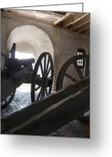 Peter French Greeting Cards - Ground Floor Cannons Greeting Card by Peter Chilelli