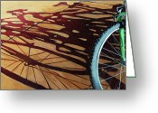Bicycle Greeting Cards - Group Hug - bicycle art Greeting Card by Linda Apple