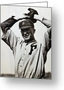 Philadelphia Phillies Greeting Cards - Grover Cleveland Alexander Greeting Card by Granger