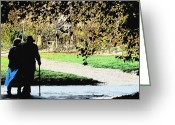 Husband And Wife Greeting Cards - Grow Old With Me Greeting Card by Jan Cipolla
