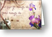 Ym_art Greeting Cards - Grow through Life Greeting Card by Yvon -aka- Yanieck  Mariani