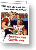 Victory Greeting Cards - Grow Your Own Can Your Own  Greeting Card by War Is Hell Store