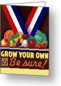 Victory Greeting Cards - Grow Your Own Victory Garden Greeting Card by War Is Hell Store