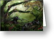 Vines Mixed Media Greeting Cards - Growing Wild Greeting Card by Carol Cavalaris