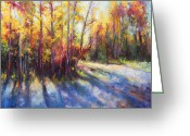 Landscape Painter Greeting Cards - Growth Greeting Card by Talya Johnson