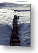 Flood Greeting Cards - Groyne Greeting Card by Joana Kruse