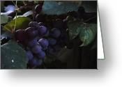 Green Vines Greeting Cards - Grrrrapes Greeting Card by Ross Powell