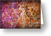 Writer Greeting Cards - Grunge Background 3 Greeting Card by Carlos Caetano