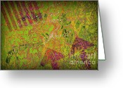 Airbrush Greeting Cards - Grunge Background 4 Greeting Card by Carlos Caetano