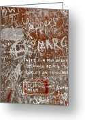 Note Greeting Cards - Grunge Background Greeting Card by Carlos Caetano