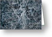 Writing Greeting Cards - Grunge Background I Greeting Card by Carlos Caetano