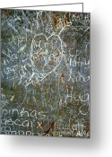 Metallic Greeting Cards - Grunge Background III Greeting Card by Carlos Caetano