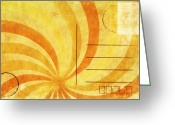 Backside Greeting Cards - Grunge Ray On Old Postcard Greeting Card by Setsiri Silapasuwanchai