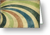Wall Pastels Greeting Cards - grunge Rays background Greeting Card by Setsiri Silapasuwanchai