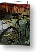 Photographer Photographs Photographs Greeting Cards - Grunge Street Greeting Card by Jerry Cordeiro