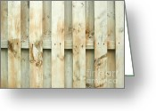 Stripe.paint Greeting Cards - Grungy old fence background Greeting Card by Blink Images
