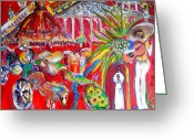 Nun Greeting Cards - Guadalajara Memories Greeting Card by Cheryl Braganza