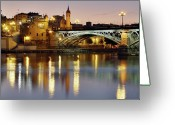 Street Light Greeting Cards - Guadalquivir Greeting Card by Gustavo