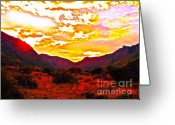 "\""guadalupe National Park\\\"" Greeting Cards - Guadalupe Mountain National Park Greeting Card by Chuck Taylor"