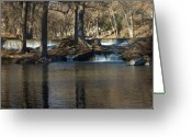 Water Framed Prints Posters Greeting Cards - Guadalupe Overflows Greeting Card by Karen Musick