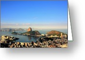 Aerial View Greeting Cards - Guanabara Bay Greeting Card by Luiz Felipe Castro