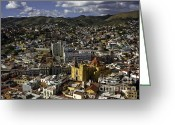 Birdseye Greeting Cards - Guanajuato Vista Greeting Card by Lynn Palmer