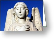 Guardian Angel Greeting Cards - Guardian Angel 2 Greeting Card by Sophie Vigneault