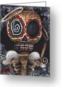 Skull Painting Greeting Cards - Guardian Angel  Greeting Card by  Abril Andrade Griffith