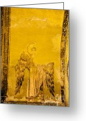 Icon Byzantine Greeting Cards - Guardian Angel Byzantine Art Greeting Card by Artur Bogacki