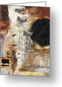 Mixed-media Greeting Cards - Guardian Angel Greeting Card by Michel  Keck