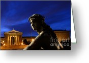 Philadelphia Museum Of Art Greeting Cards - Guardian Angel of Art Greeting Card by Paul Ward