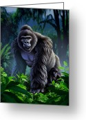  Jungle Greeting Cards - Guardian Greeting Card by Jerry LoFaro