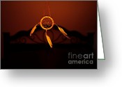 Lakota Greeting Cards - Guardian Greeting Card by Luke Moore