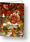 Tibetan Buddhism Greeting Cards - Guardian of the West - Lhasa Tibet Greeting Card by Craig Lovell