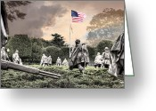 Usmc Greeting Cards - Guardians Greeting Card by JC Findley