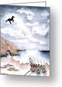Mystical Drawings Greeting Cards - Guardians Greeting Card by Pamela Allegretto