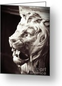 Sharp Teeth Greeting Cards - Guarding the Palace Greeting Card by Carol Groenen