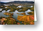 Guatape Greeting Cards - Guatape Greeting Card by Skip Hunt