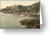 Great Point Greeting Cards - Guernsey - La Maye Point and Harbor - Channel Islands - England Greeting Card by International  Images