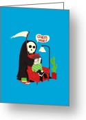 Death Greeting Cards - Guess Who Greeting Card by Budi Satria Kwan