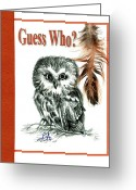 Carol Allen Anfinsen Greeting Cards - Guess Who Greeting Card by Carol Allen Anfinsen