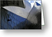 Guggenheim Museum Greeting Cards - Guggenheim 3 Bilboa Spain Greeting Card by Paul Basile