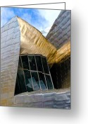 Guggenheim Museum Greeting Cards - Guggenheim 5 Bilboa Spain Greeting Card by Paul Basile