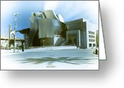 Urbano Greeting Cards - Guggenheim in blue Greeting Card by Fernando Alvarez