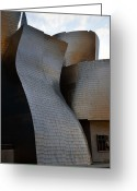 Guggenheim Museum Greeting Cards - Guggenheim Museum Bilbao - 1 Greeting Card by RicardMN Photography