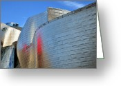 Guggenheim Museum Greeting Cards - Guggenheim Museum Bilbao - 3 Greeting Card by RicardMN Photography