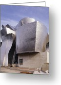 Guggenheim Museum Greeting Cards - Guggenheim Museum, Bilbao, Spain Greeting Card by Carlos Dominguez