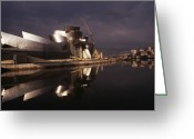 Guggenheim Museum Greeting Cards - Guggenheim Museum Greeting Card by Carlos Dominguez