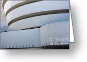 Guggenheim Museum Greeting Cards - Guggenheim Museum Greeting Card by David Bearden